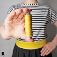 Gürtel aus Stoff   Ein gelber Farbtupfer